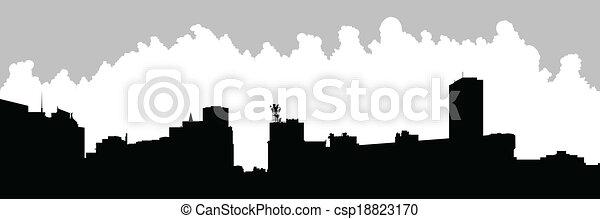 Buffalo City Skyline - csp18823170