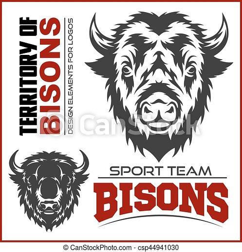 Buffalo Head Animal Symbol. Great for Badge Label Sign Icon Logo Design. - csp44941030