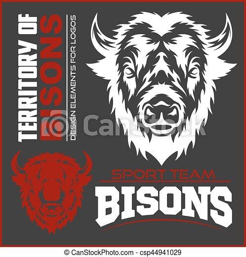 Buffalo Head Animal Symbol. Great for Badge Label Sign Icon Logo Design. - csp44941029