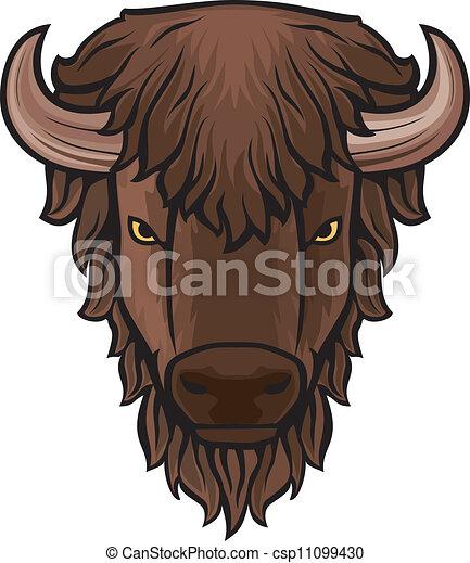 Buffalo head - csp11099430