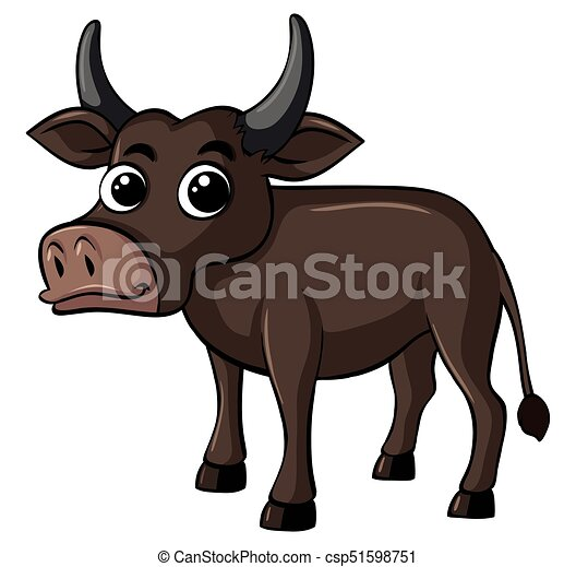 Buffalo with happy face - csp51598751