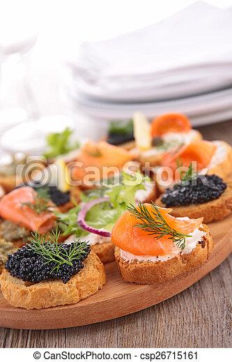 buffet food, canape - csp26715161