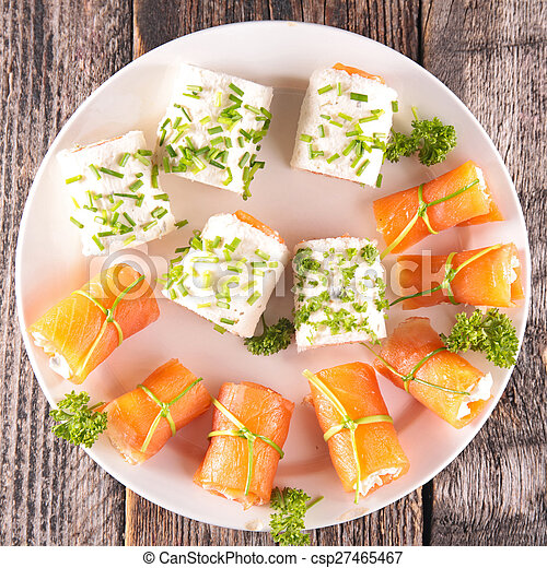buffet food, canape - csp27465467