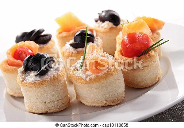 buffet food, canape - csp10110858