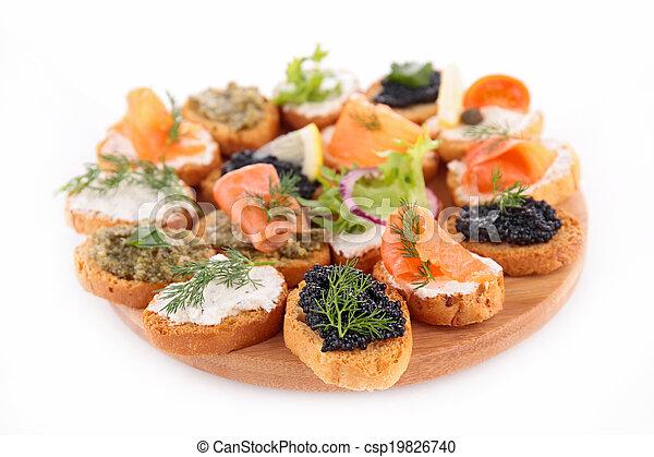 buffet food, canape - csp19826740