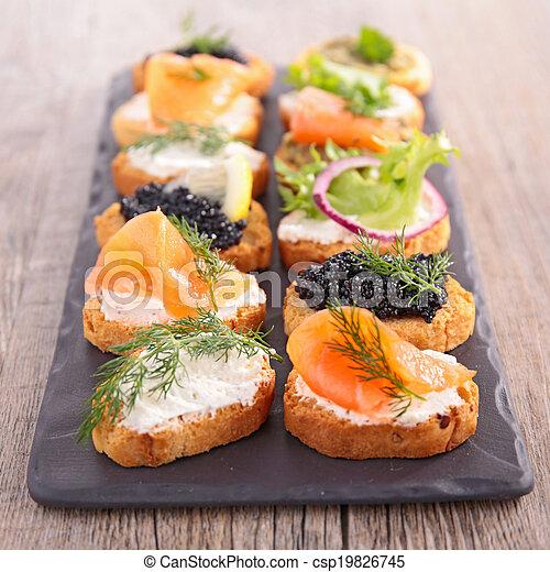 buffet food, canape - csp19826745