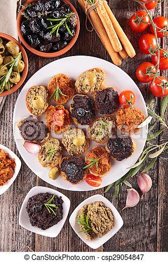 buffet food, canape  - csp29054847