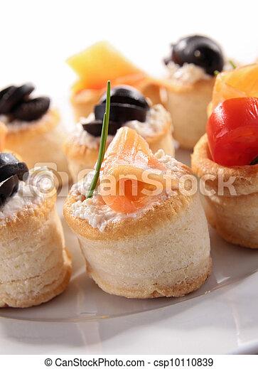 buffet food, canape - csp10110839