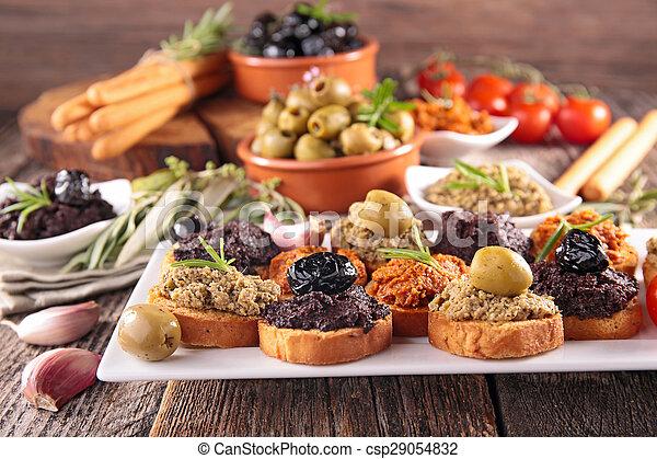 buffet food, canape  - csp29054832
