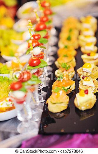 buffet food closeup - csp7273046