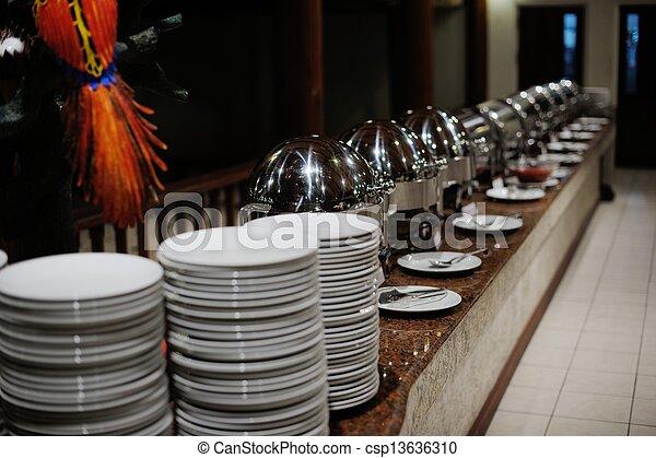 buffet food - csp13636310