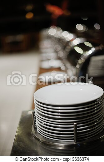 buffet food - csp13636374