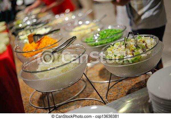 buffet food - csp13636381