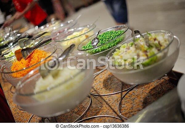 buffet food - csp13636386