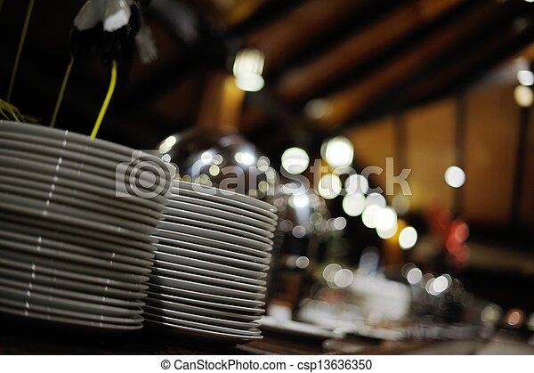 buffet food - csp13636350