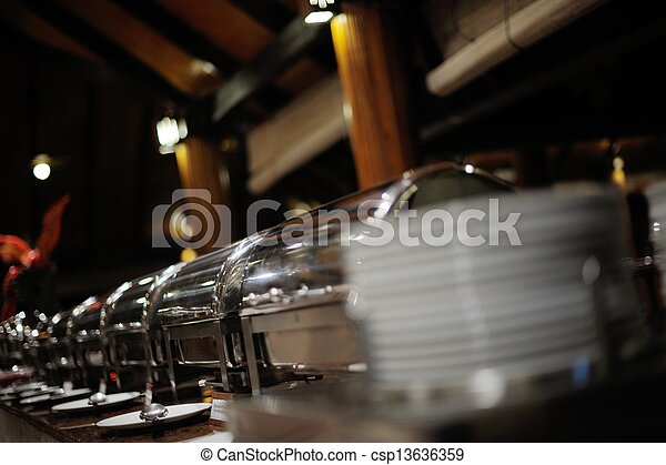 buffet food - csp13636359