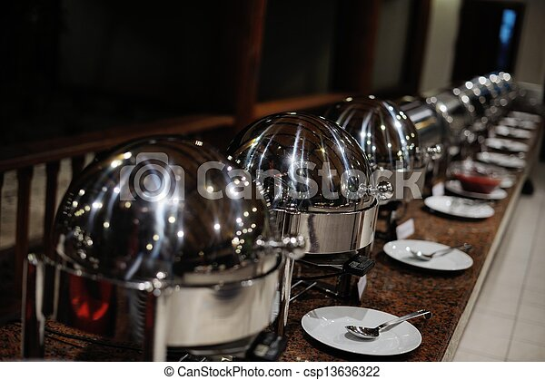 buffet food - csp13636322
