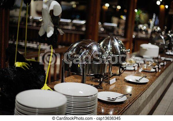 buffet food - csp13636345