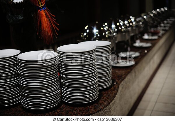 buffet food - csp13636307