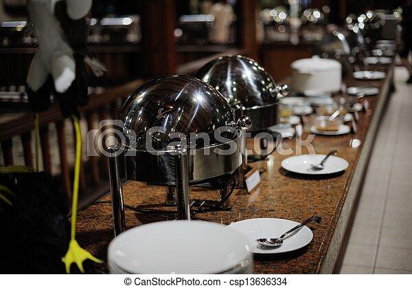 buffet food - csp13636334