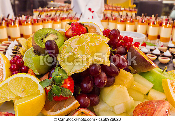 Buffet fruit dessert - csp8926620