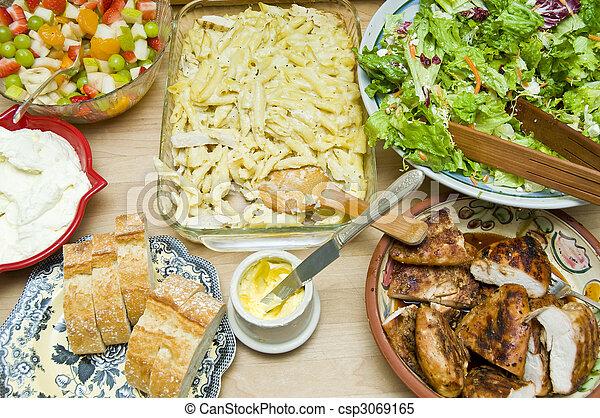 Buffet of tons of food - csp3069165