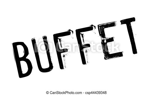 Buffet rubber stamp. grunge design with dust scratches. effects can ...