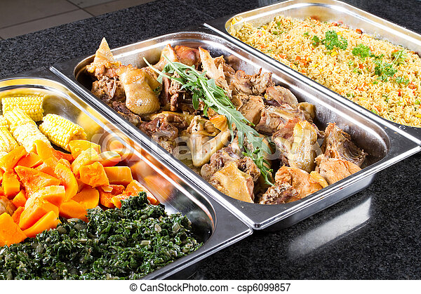 buffet style food - csp6099857