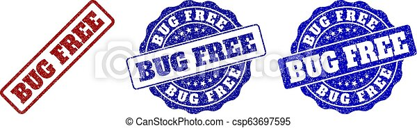 BUG FREE Grunge Stamp Seals - csp63697595