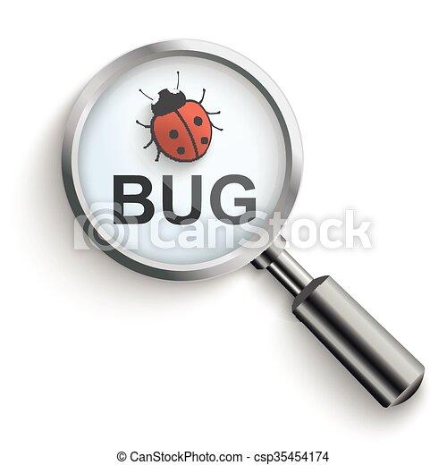 Bug Loupe - csp35454174