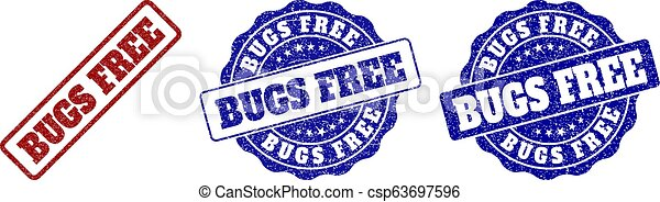 BUGS FREE Scratched Stamp Seals - csp63697596