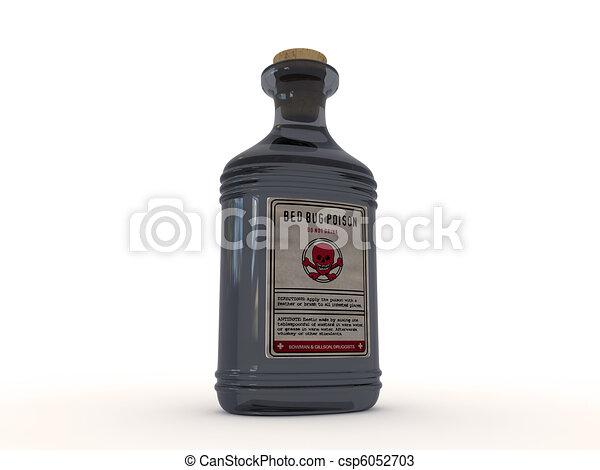 bugs poison isolated on white background - csp6052703