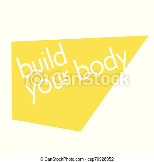Build Your Body Quote Sign Quotes Poster Series