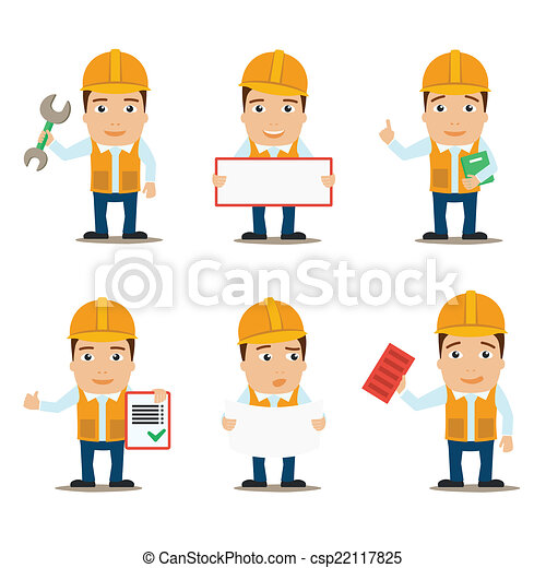 Builder characters set - csp22117825