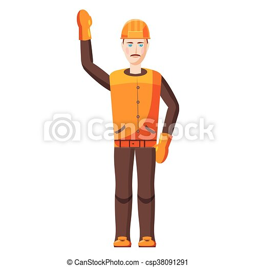 Builder icon, cartoon style - csp38091291