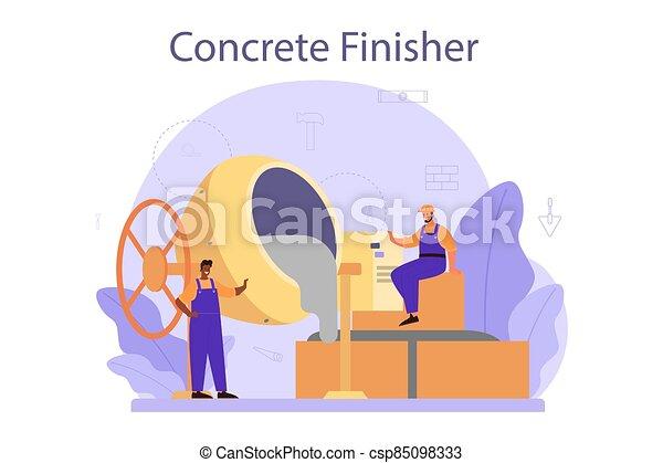 builder., preparar, concreto, trabalhador, finisher, profissional - csp85098333