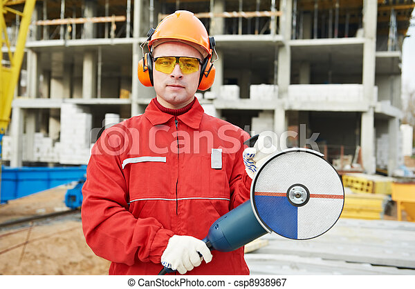 builder worker at construction site - csp8938967