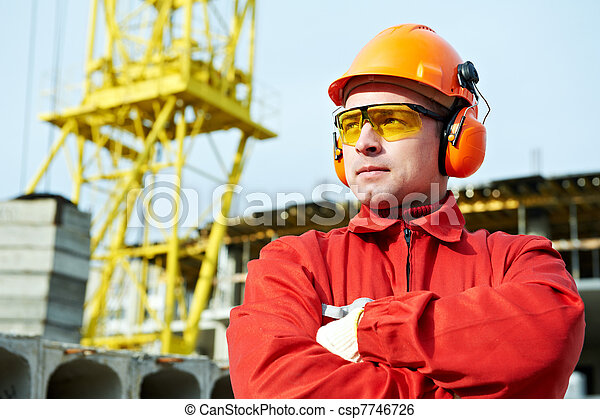 builder worker at construction site - csp7746726