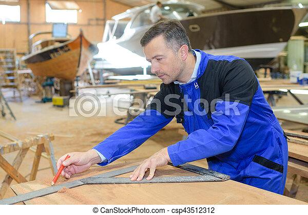 building a boat - csp43512312