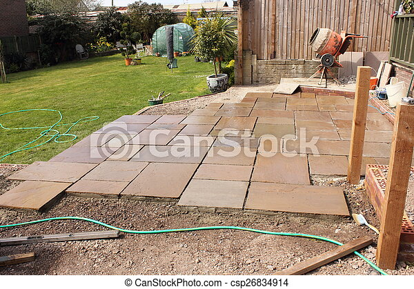 Building A Natural Stone Patio   Csp26834914