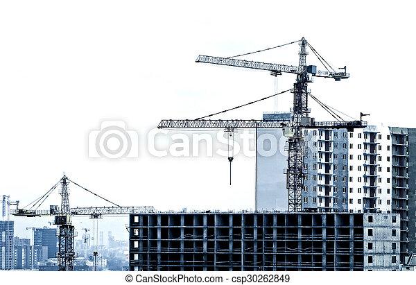 Building and Crane - csp30262849