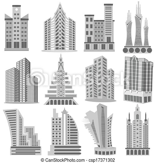 Easy To Edit Vector Illustration Of Building And Skyscraper