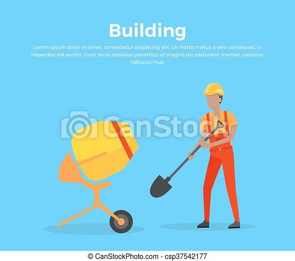 Building Banner Web Design Flat - csp37542177
