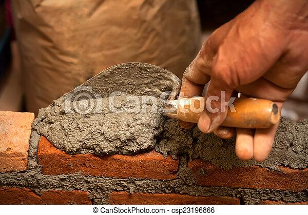 Building Brick Wall Stock Photo