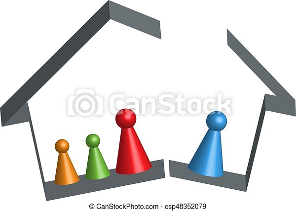 Building broken family home in 3D - csp48352079