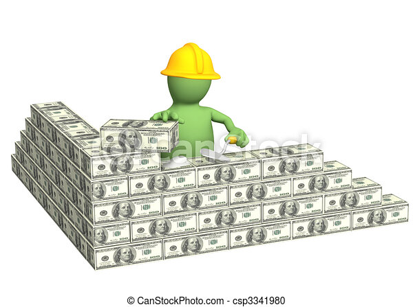 Conceptual image building business 3d stock for Free money to build a house
