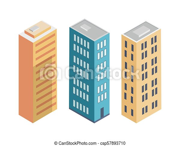 Building Collection Poster Vector Illustration - csp57893710