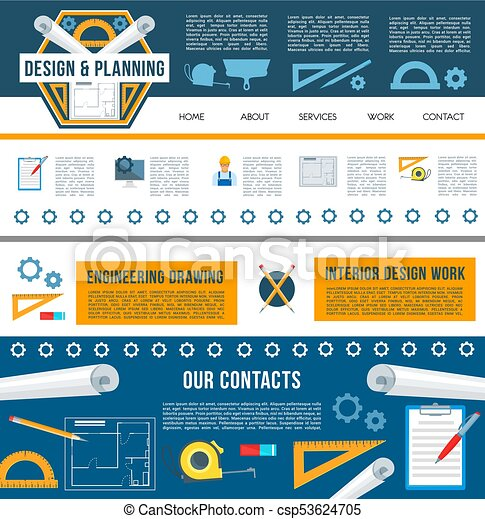 Building construction company web page template. Building ...