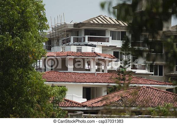 building facade renovation - csp37031383