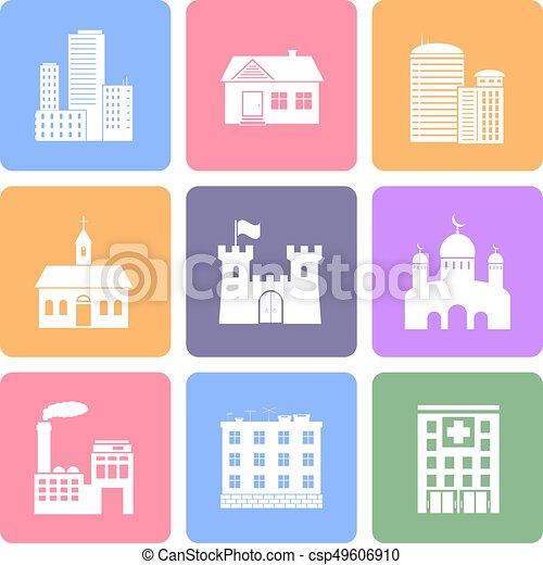 Building flat icons - csp49606910